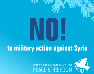 No to military action against Syria