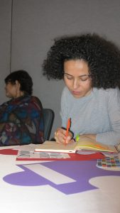 Oula Ramadan, Badael Foundation, at the Communities and Social Structures breakout session. Photo: Orla Sheridan.