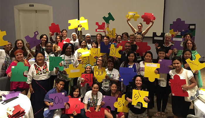 WILPF Participants at AWID 'Feminist Playbook for Peace' event. Photo: WILPF.