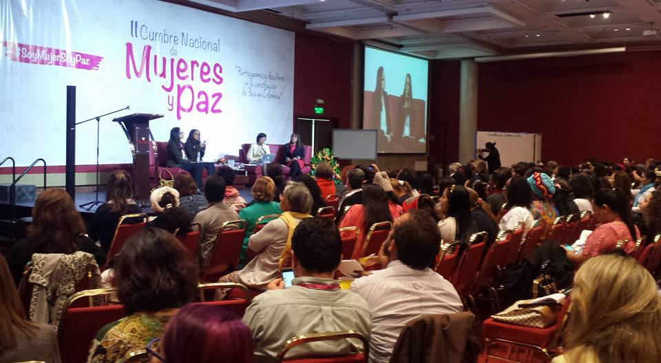National Summit of Women and Peace, September 2016. Photo: WILPF Colombia (LIMPAL).
