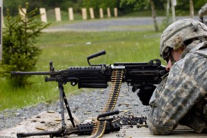 Photo of soldier with small arms