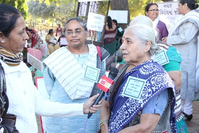 Ila Pathek getting interviewed on rape in India