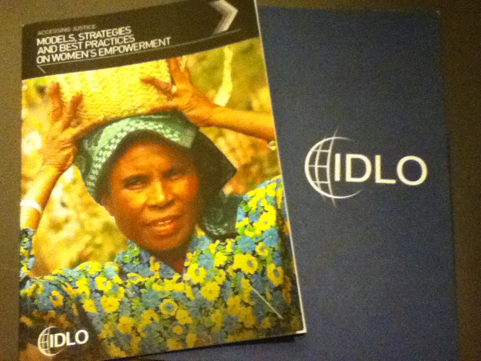 Photo of the IDLO report on women's access to justice