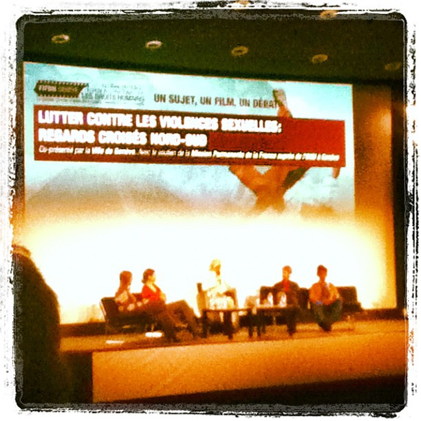 Photo of the panel on sexual violence at the FIFDH