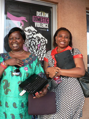 Annie and Joy, Presidents of WILPF DRC and WILPF Nigeria/Tove Ivergard