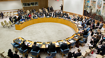Photo of the UN Security Council