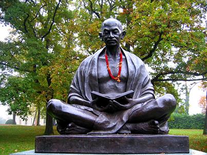 Ghandi Statue in Geneva, Switzerland.