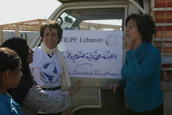 WILPF Lebanon arriving at the camp