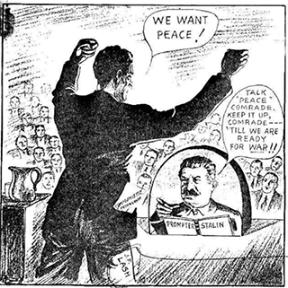 Cartoon of Stalin as a prompter