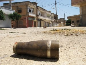 Shelling in Homs, Syria. Credit: UN Photo/David Manyua