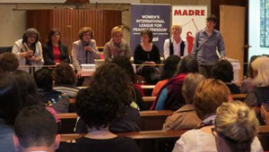 Photo from a WILPF side event at the CSW 2014