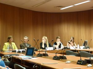 Panellists at the event Guns and Gender-Based Violence