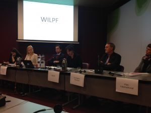 Sepideh Shahrokhi from WILPF Sweden at the UPR pre-session