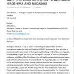 WILPF sponsors Hiroshima and Nagasaki
