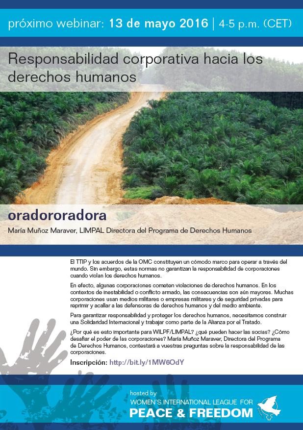Responsabilidad corporativa hacia los derechos humanos