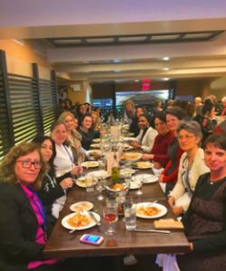 WILPF delegation dinner. Photo credit: WILPF.