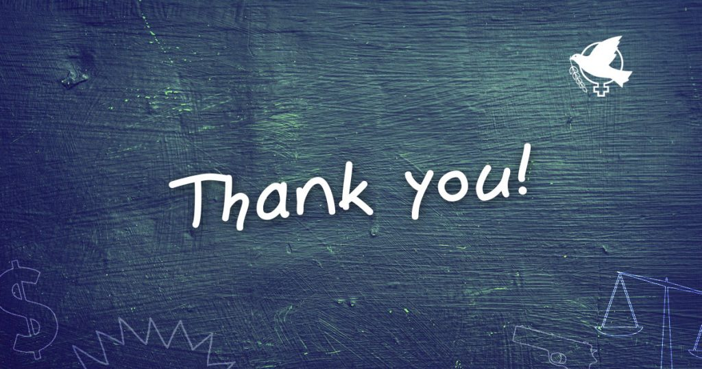 wilpfrealchange campaign we just want to say thank you wilpf